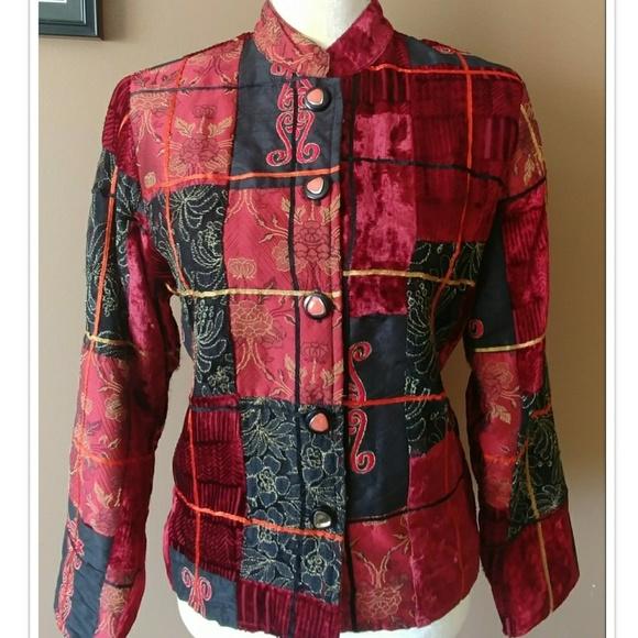 Casual Studio Jackets & Blazers - 🌹 VTG Velvet Embroidery Jacket